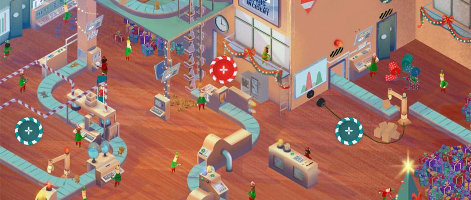 Capture d'écrans de Siemens et son Santa's Factory
