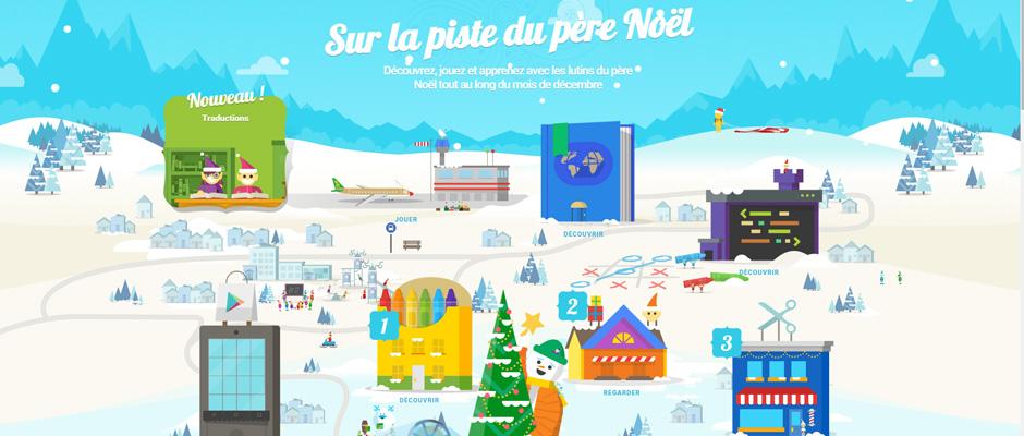 Sur la piste du père Noël - Google