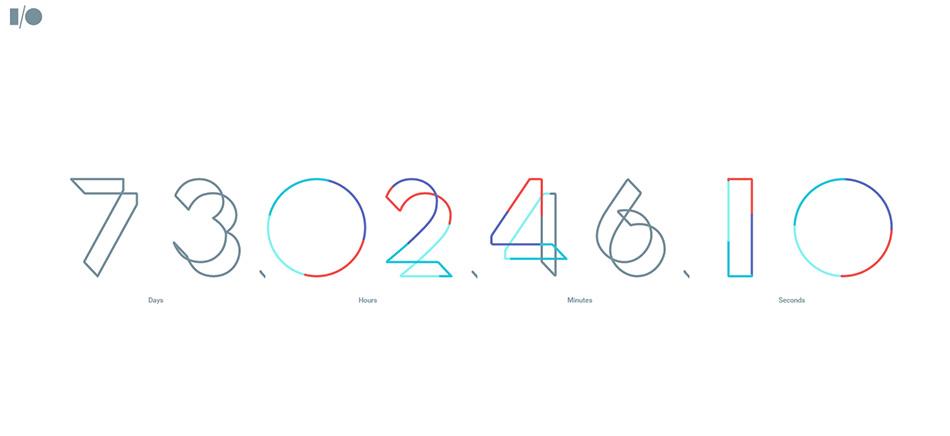 I/O 2016 Clock SVG