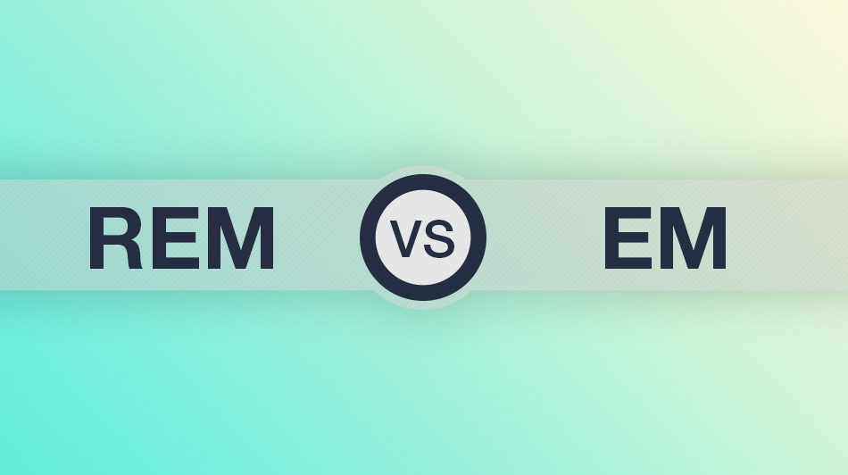 REM versus EM