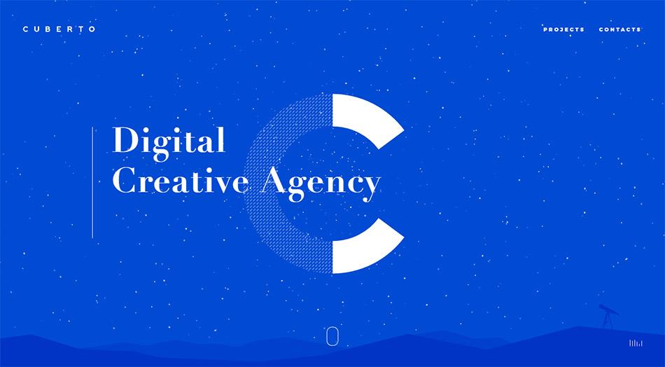 Le nouveau site internet de l'agence digitale Cuberto