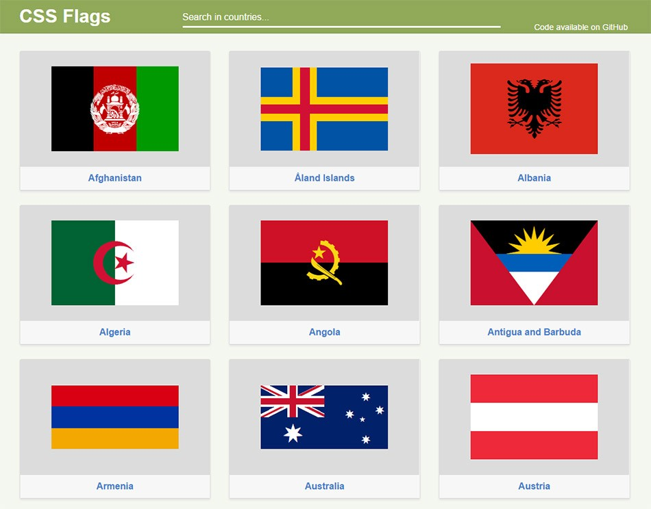 CSS Flags
