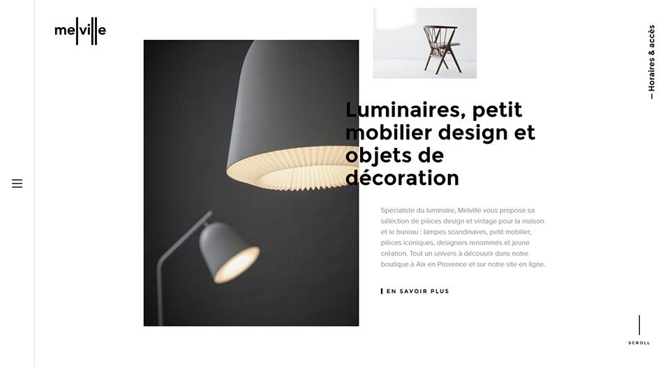 Melville Design par Waaark Studio