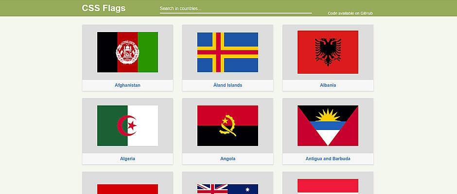 CSS Flags : bibliothèque de drapeaux en pur CSS