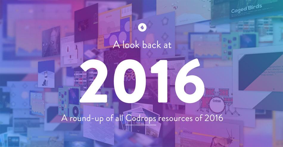 Codrops - Lookback 2016