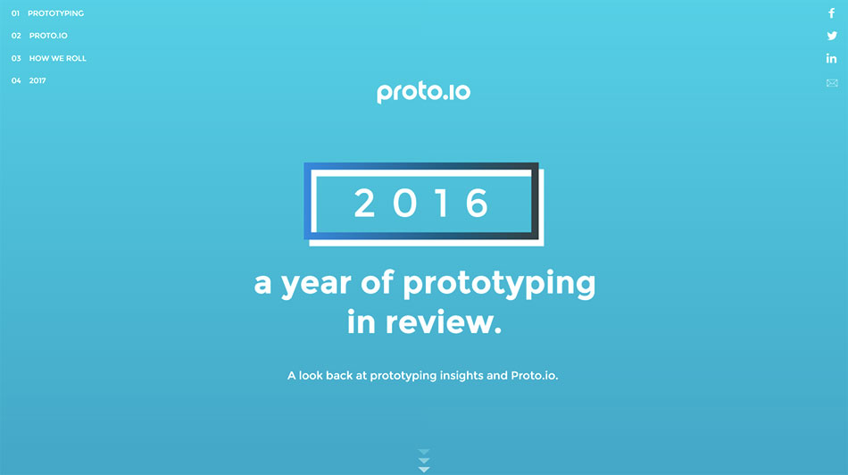 Proto.io - Year in Review 2016