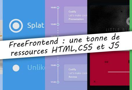 FreeFrontend : des ressources en HTML, CSS et JS