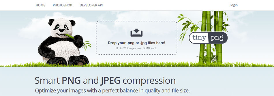 TinyPNG - outil de compression PNG