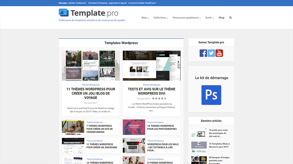 Site de ressources Template.pro