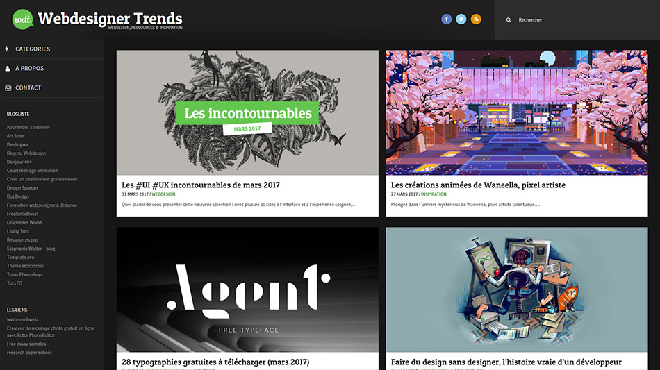 Blog Webdesigner Trends