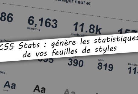 CSS Stats : génère les statistiques de fichiers CSS