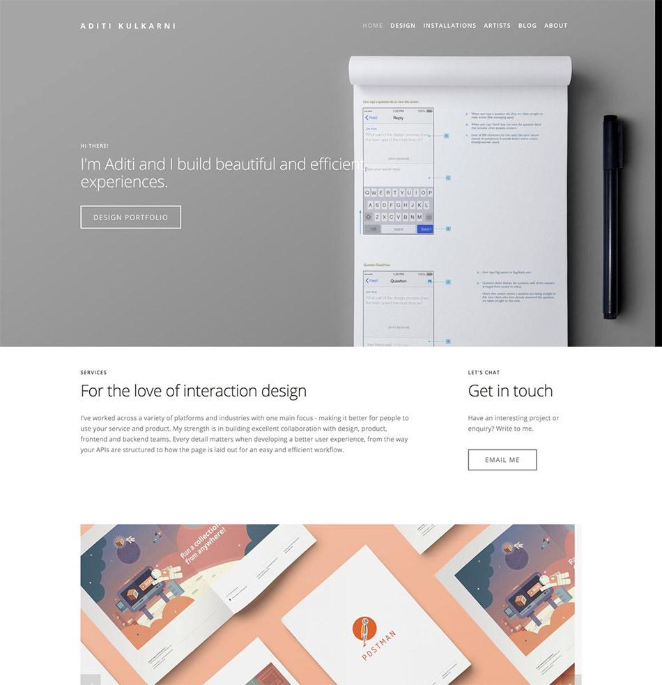 Exemple de site sur Bestfolios.com