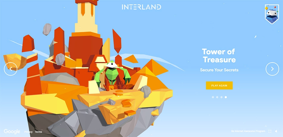 Google Interland, exemple de jeu
