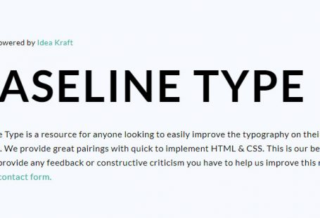 Baseline Type : associations de fonts
