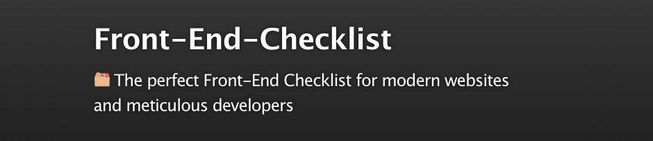 La Front-end checklist parfaite pour les sites modernes et les développeurs méticuleux