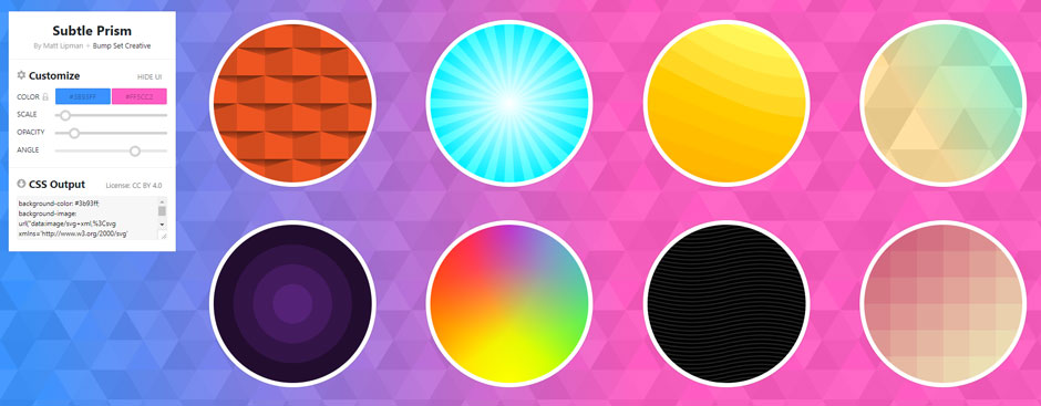 SVG Backgrounds - exemples