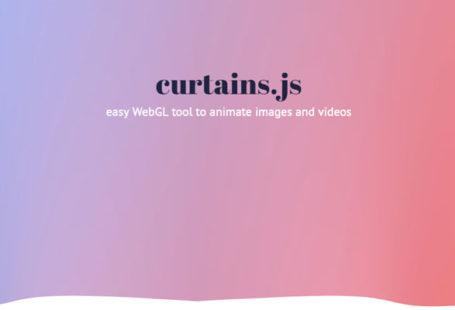 curtains.js : outil webgl pour animer image et vidéos