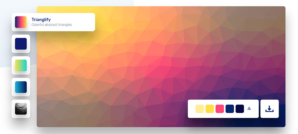 Interface de l'outil coolbackgrounds.io
