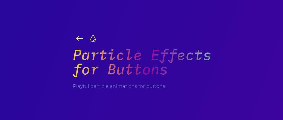 Créer des boutons avec des effets à particules