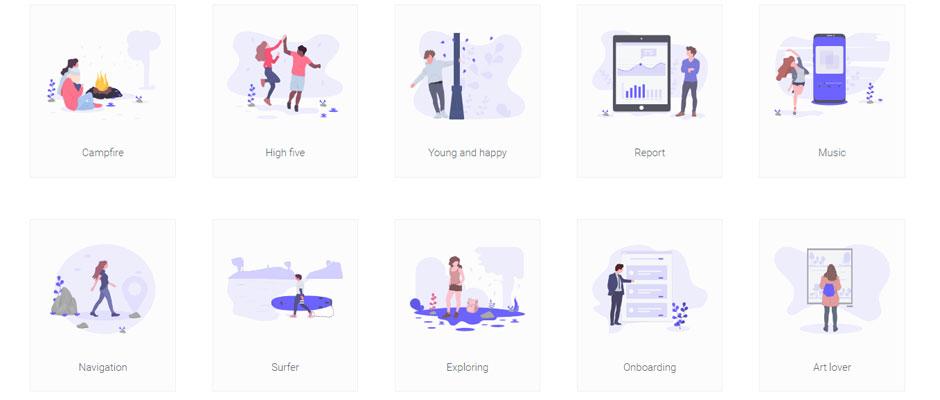 unDraw : collection d'illustrations gratuites