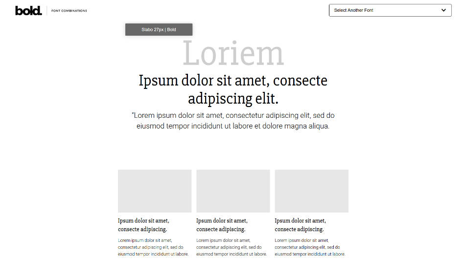 Font Combinations example d'associations de fonts