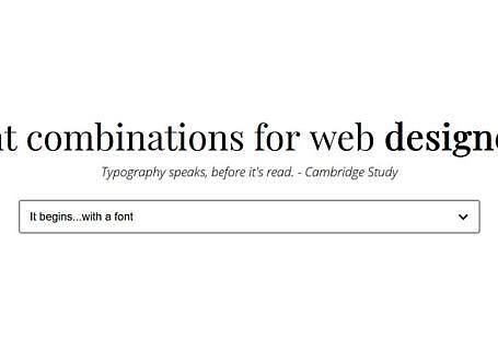 Font combinations : pour vous aider à associer des fonts