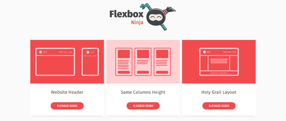 Flexbox.ninja - études de cas autour du Flexbox