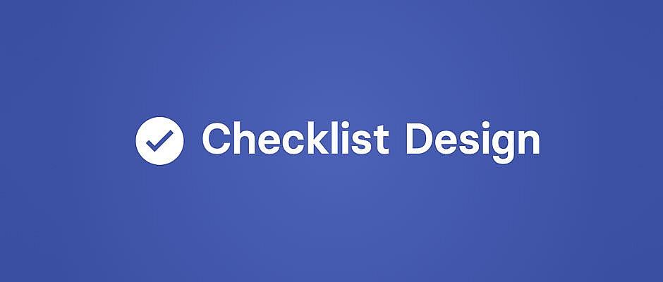 Checklist Design : la checklist des bonnes pratiques UX et UI design