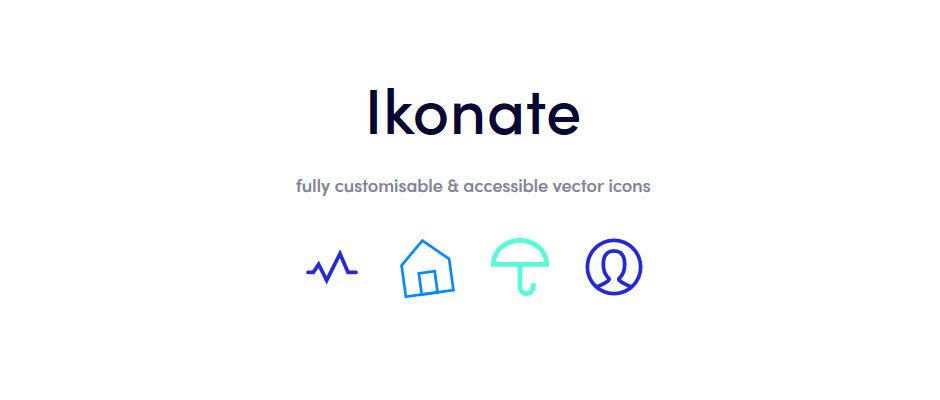 Ikonate : bibliothèque d'icones accessible et personnalisable