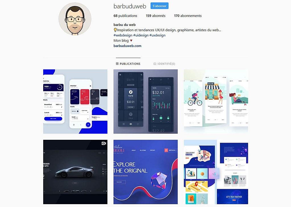 Compte instagram barbuduweb