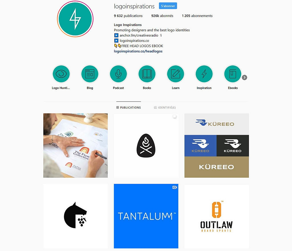Compte instagram Logoinspirations