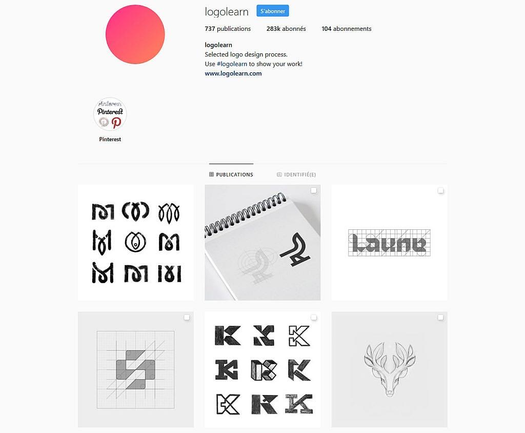 Compte instagram Logolearn