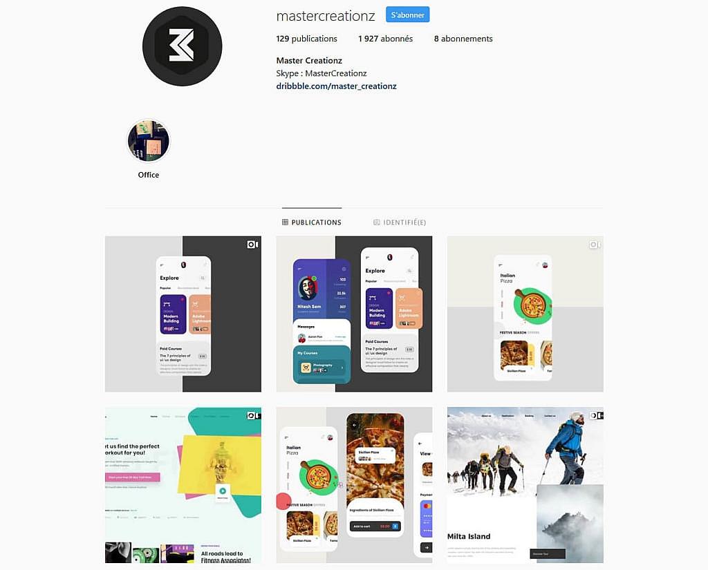 Compte instagram Mastercreationz