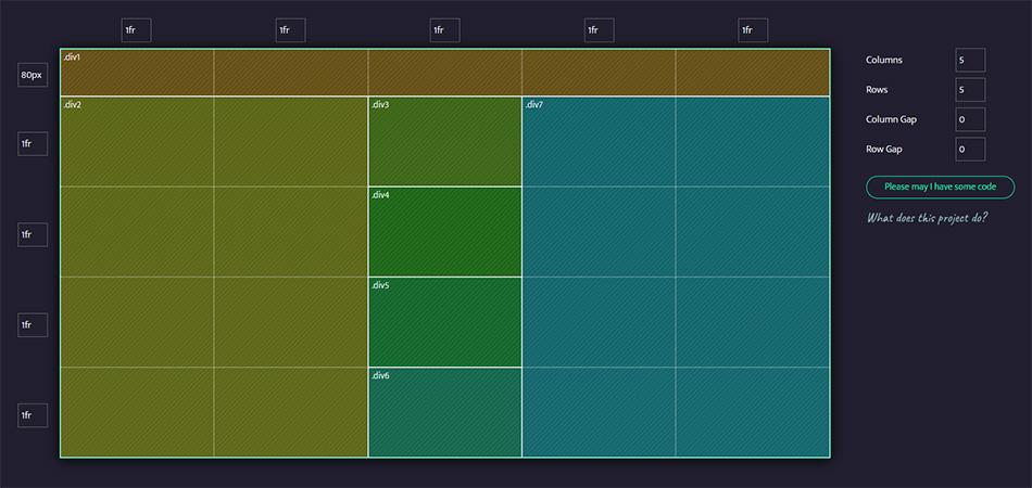 CSS Grid generator exemple