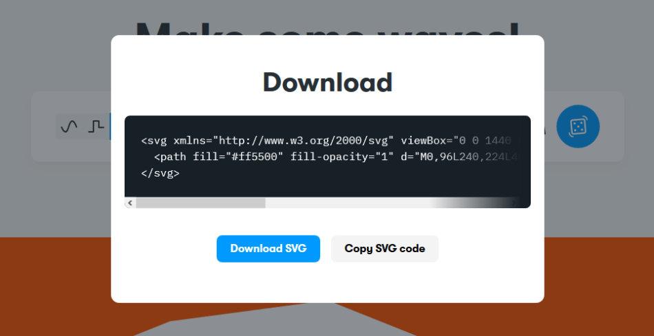 Get Waves export du code SVG