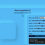 Neumorphism.io : pour générer le style graphique Neumorphism