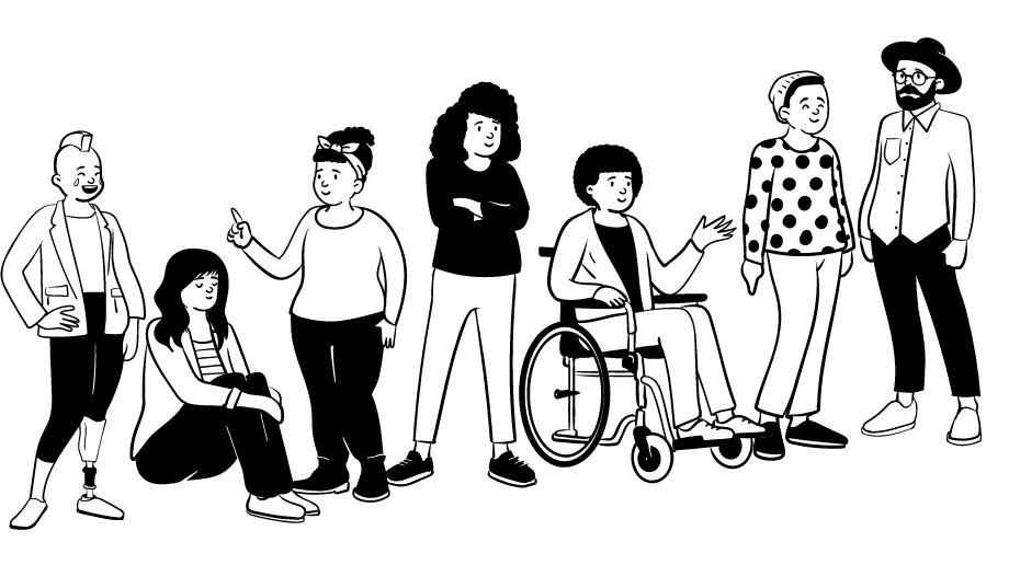 Exemple d'illustration Open Peeps
